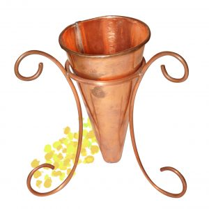 花器(台付き)(銅)